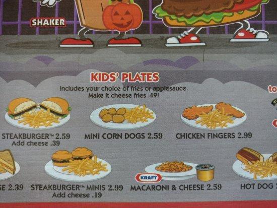 steak n shake kid s menu