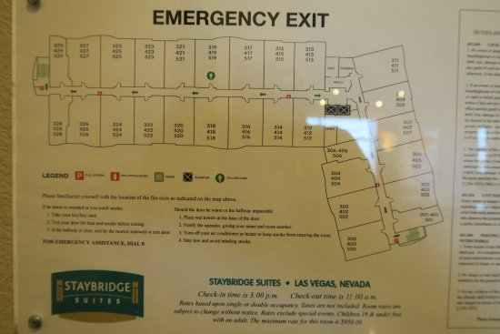 Staybridge Suites Las Vegas: Room Map