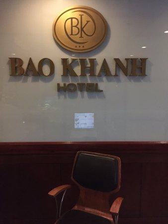 Bao Khanh Hotel: Front Desk