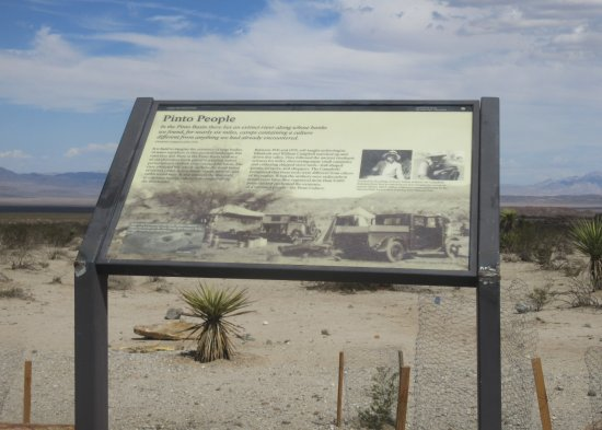 The Pinto Basin: Pinto People Information Sign, Joshua Tree National Park, CA