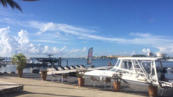 Mercure Saint-Martin Marina & Spa: Marina devant le restaurant