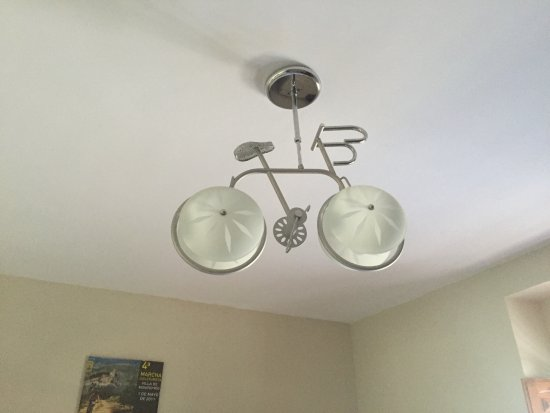B&B Lasnavillas m&m: De fietslamp
