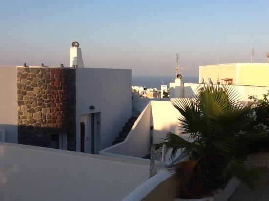 Nikos Hotel: Depuis la terrasse de notre chambre