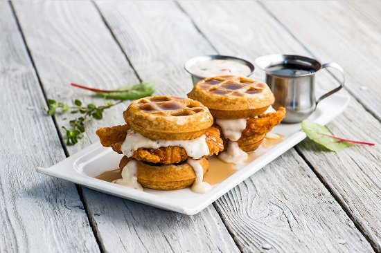 Hillsboro, OR: chicken and waffle sliders