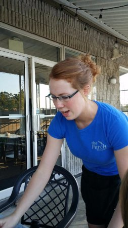 Fenelon Falls, Canada: Very cute redhead server at the Perch - wonderful