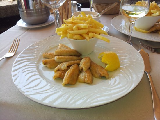 Pully, Ελβετία: Saturday special - perch filet pieces with French fries