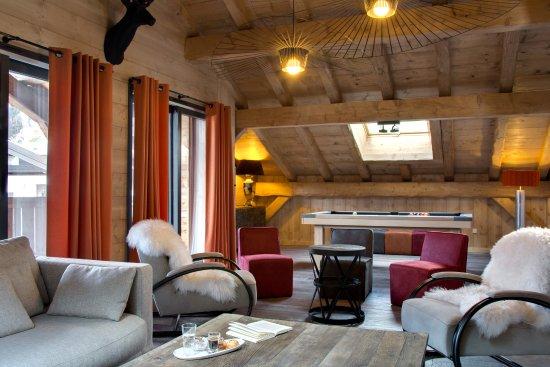 Les Gets, Frankreich: Salon chambre Marmotte