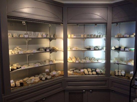 Βαν, Γαλλία: Wall of amazing goats cheese!
