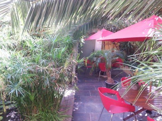 Hotel des Arceaux: jardin