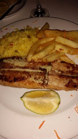 Бенони, Южная Африка: Perfectly grilled sole. Was like a little piece of Heaven in my mouth.