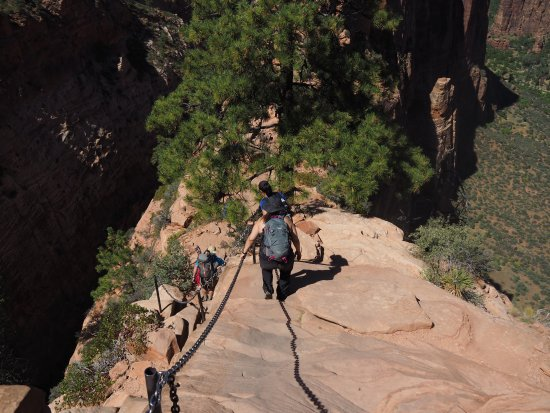 Angel's Landing: Heading down another section!