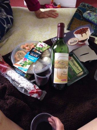 Hotel Printemps: ужин из супермаркета :)