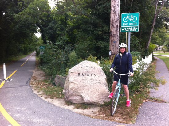 Falmouth, MA: Start of the trail towards Woods Hole