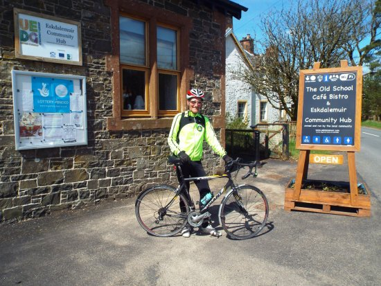 Eskdalemuir, UK: One of the many Cyclists who drop by