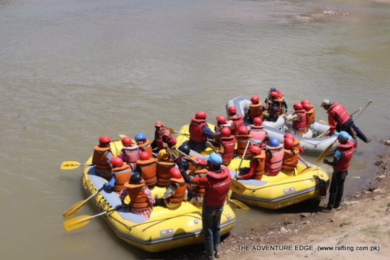 Muzaffarabad, Pakistan: Rafting activities BY kunhar river rafting enterprise a project of ADVENTURE EDGE (PVT)LTD