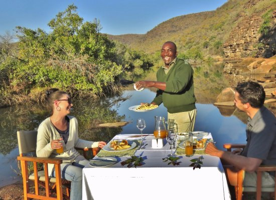 Bulge River, Sydafrika: Dining in style
