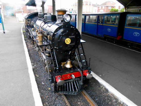 Littlestone-on-Sea, UK: Our engine for the day, it pulled 13 carriages full of passengers with ease.