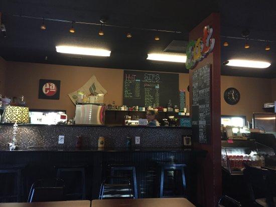Sips Coffee Cute Little Place