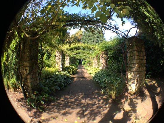 Ripon, UK: One of the pathways taken with fish-eye lens