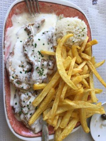 Moita, Portugal: Escalopes de porco 4 queijos