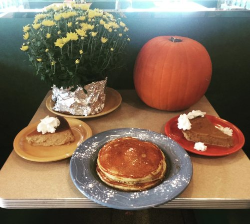 Broadway Lights Diner & Cafe: Fall Classics are here !!  Pumpkin cheese cake, Pumpkin pie, Pumpkin pancakes .... ALL MADE IN H