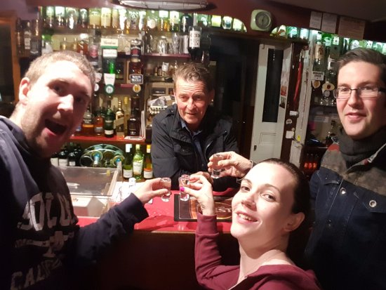 Crossmichael, UK: Last night in the Thistle Inn