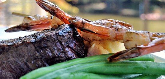 Athens, GA: Steak with add on skewer of grilled shrimp