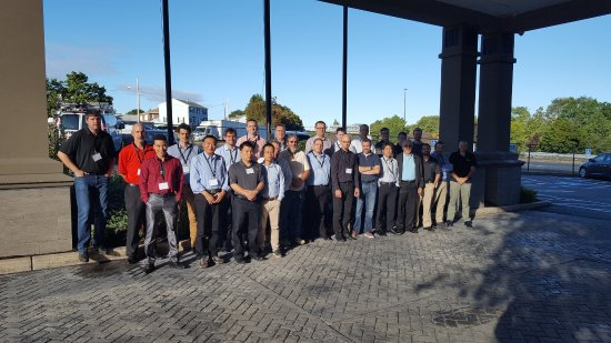 Revere, MA: This is our group of engineers photographed at the hotel's entrance