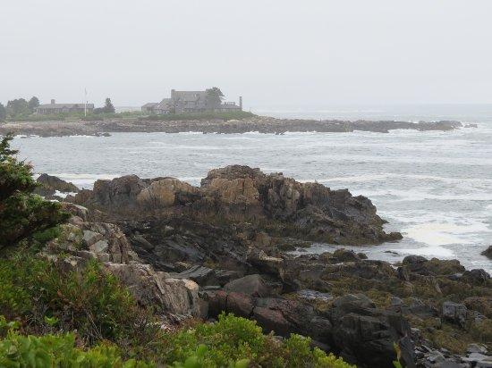 Nonantum Resort: Walking along Ocean Ave. - Bush Compound in distance