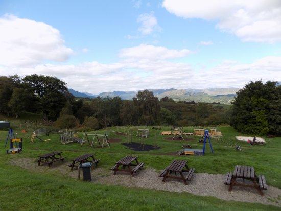 Comrie, UK: Playground at Auchingarrich