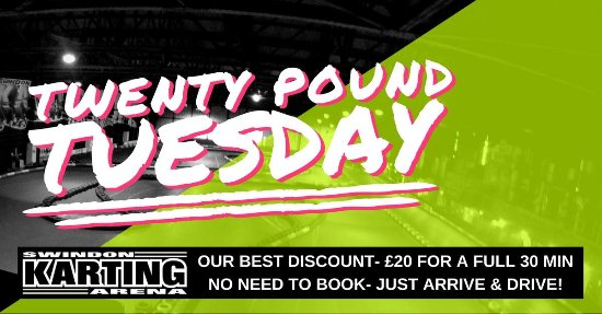 Swindon, UK: Twent Pound Tuesday discount day