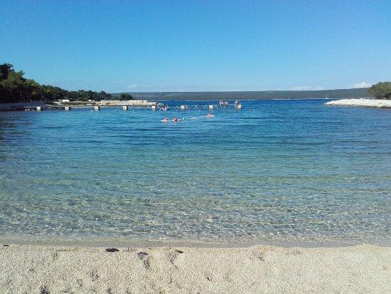 Omisalj, Croacia: One of the beaches on Cres