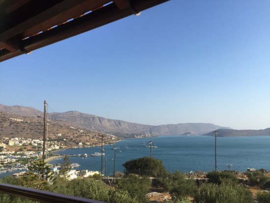 Elounda Heights Apartments and Studios: View from balcony