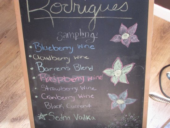 Rodrigues Winery: Types of wines