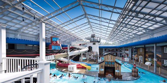 Retractable Roof For Indoor And Outdoor Fun At The Cape Codder Water Park.