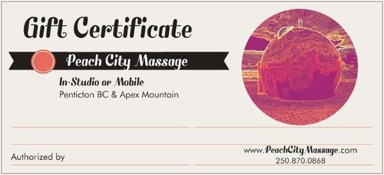 Penticton, Canada: Gift Certificates available
