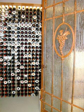 Tavarnelle Val di Pesa, İtalya: THe entrance/door to the wine cellar.