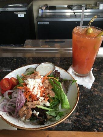 Radford, VA: Preston's House Salad  and Bloody Mary