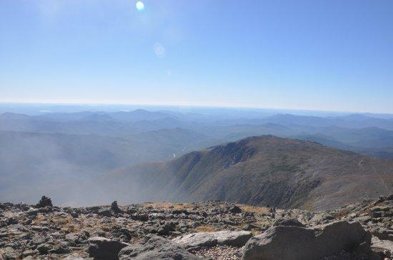 Gorham, New Hampshire: Neblina vista do ponto mais alto.