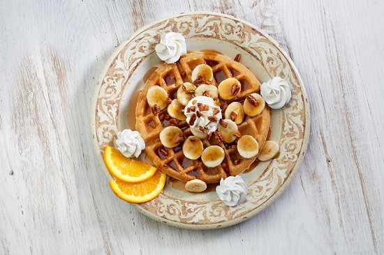 Johns Creek, Geórgia: Bananas Fosters Waffle