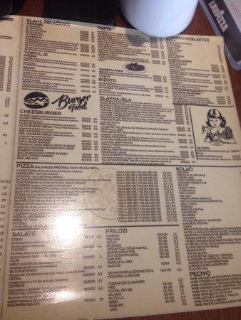 pekara menu
