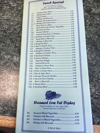 Warrenton, VA: China Restaurant menu