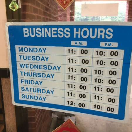 Warrenton, VA: China Restaurant business hours