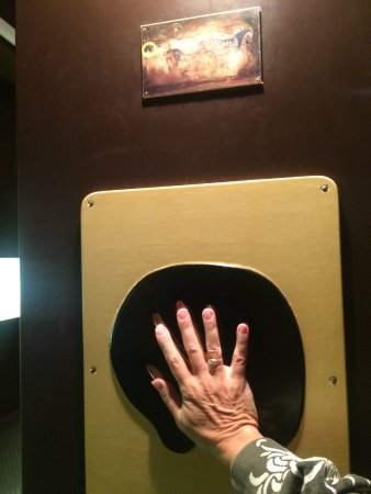 Cabrerets, Francja: No photos allowed in the cave, this was in the museum-a cast of one of the srtist's hands.