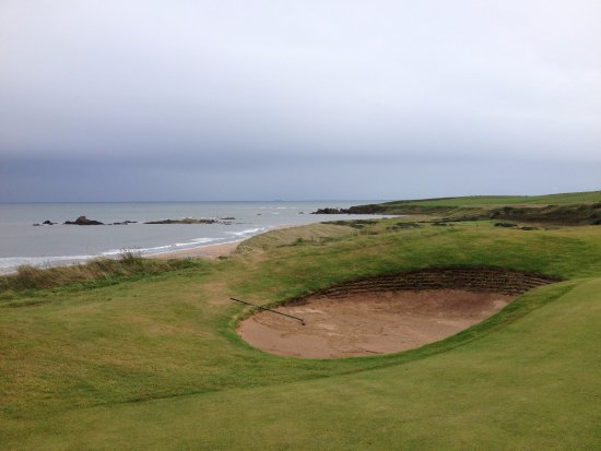Cruden Bay (Port Erroll), UK: view from course out to sea