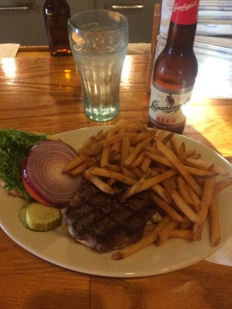 Deer River, MN: California and fries... delicious!
