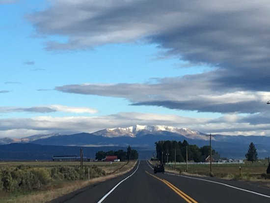 Panguitch, UT: AmericanATVRentals.com - Our view to the North, 9/24/2016- First Snow of the Fall