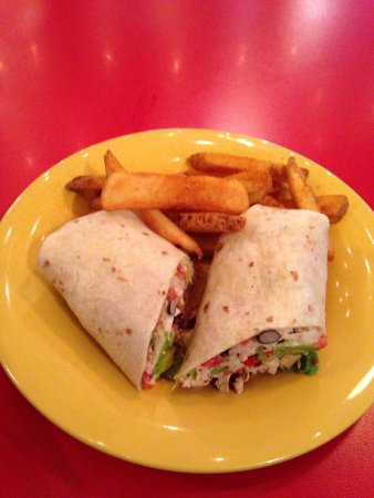 Niffer's Place: Southwest Wrap with Cajun Fries