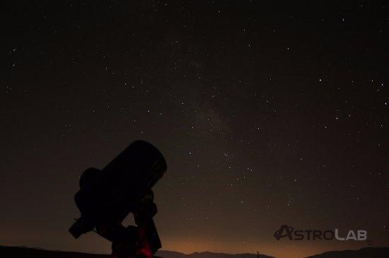 Yunquera, Spanien: Vía láctea y telescopio