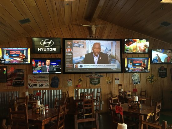 Leesville, LA: Wall of T.V.'s to watch your favorite sporting event. We have the NFL Sunday Ticket!